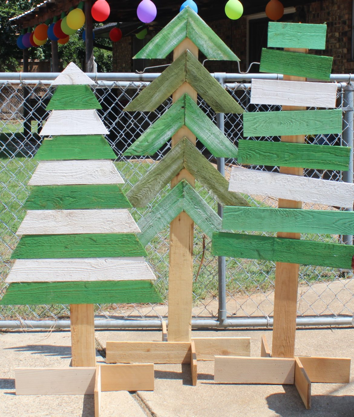 Wooden Christmas Trees. 555. 2